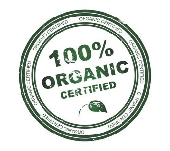 Certified 100% Organic Label